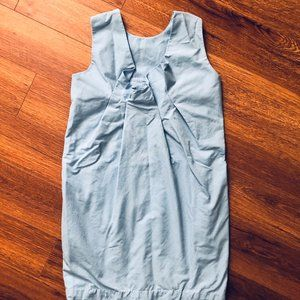 Unique back COS Sleeveless Blue Dress